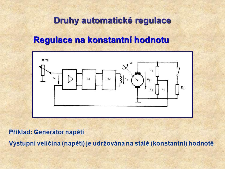 Druhy automatické regulace