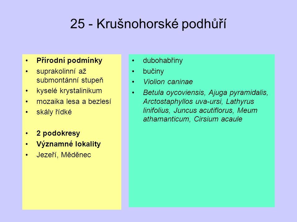 25 - Krušnohorské podhůří