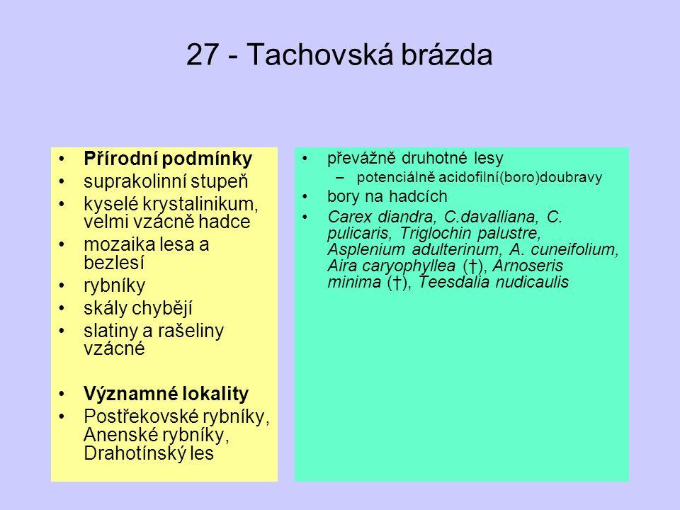 27 - Tachovská brázda Přírodní podmínky suprakolinní stupeň