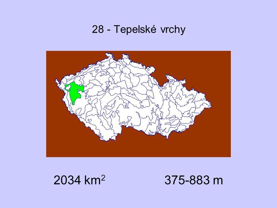 28 - Tepelské vrchy 2034 km2 375-883 m