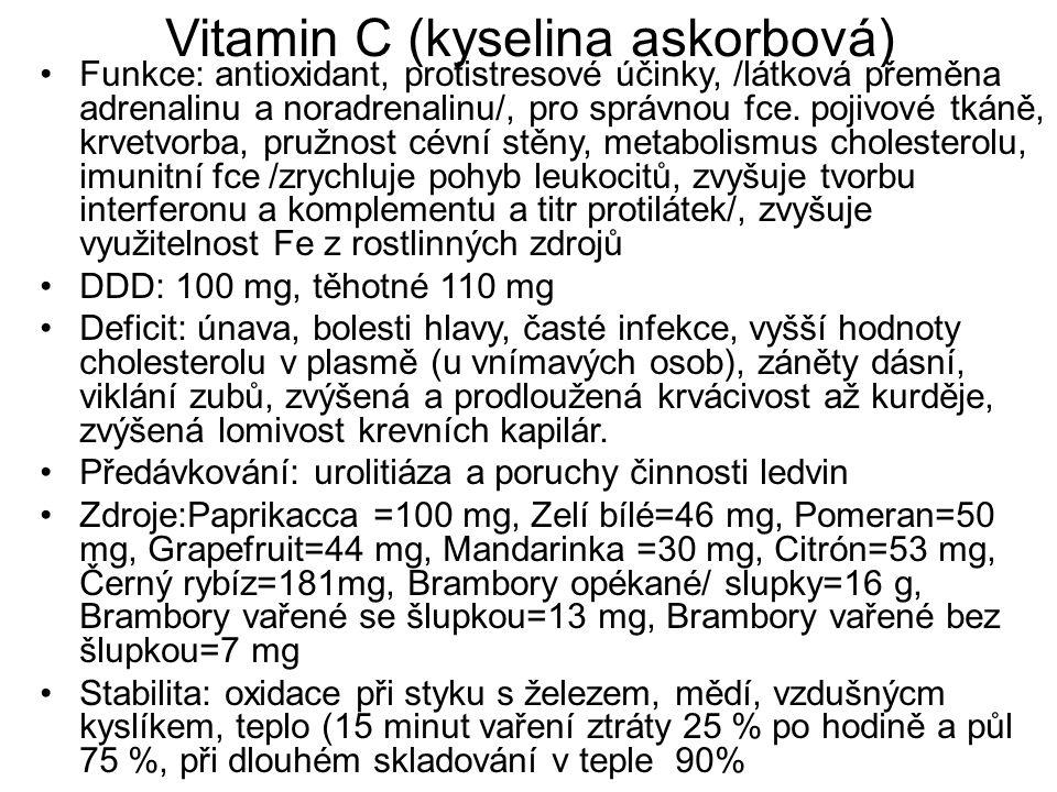 Vitamin C (kyselina askorbová)