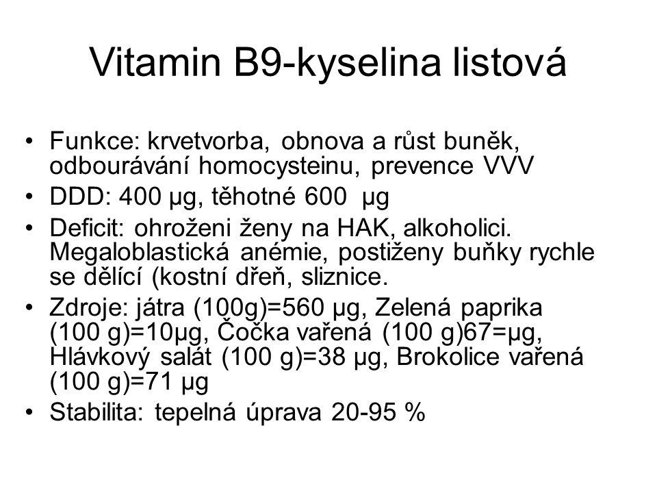 Vitamin B9-kyselina listová