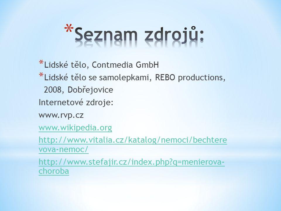Seznam zdrojů: Lidské tělo, Contmedia GmbH