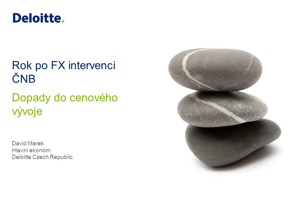 Rok po FX intervenci ČNB