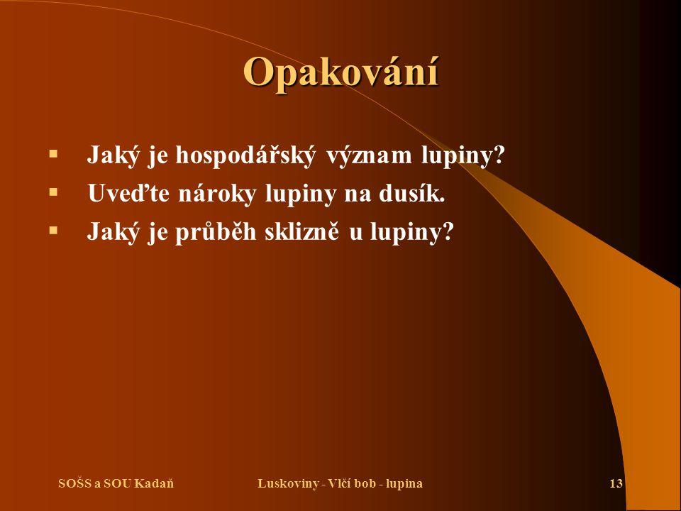 Luskoviny - Vlčí bob - lupina