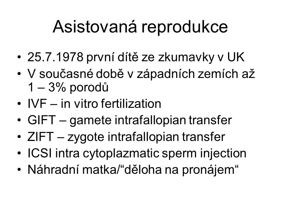 Asistovaná reprodukce