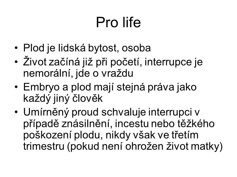 Pro life Plod je lidská bytost, osoba