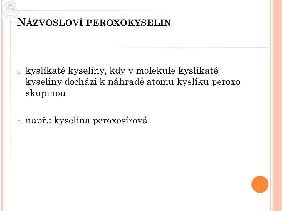 Názvosloví peroxokyselin