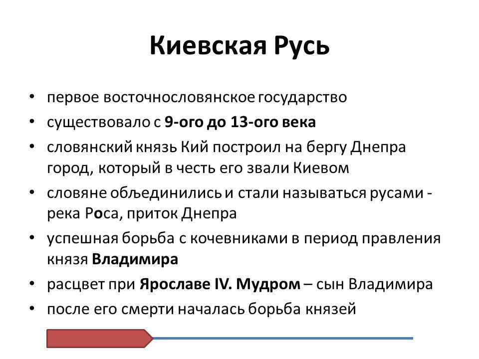 Киевскaя Русь первое восточнословянское государство
