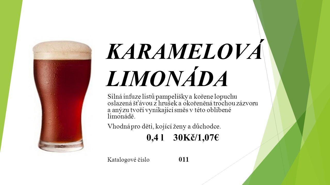KARAMELOVÁ LIMONÁDA 0,4 l 30Kč/1,07€