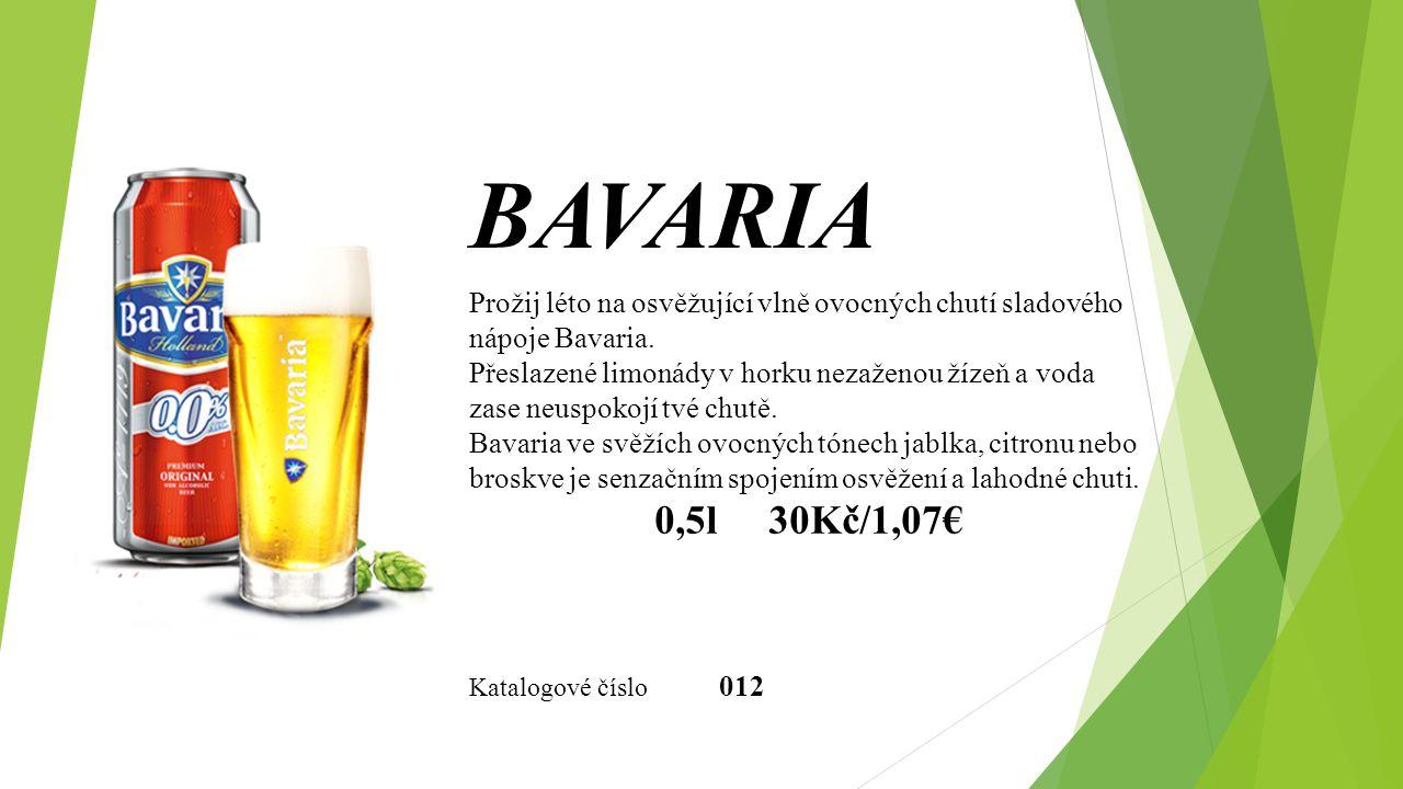 BAVARIA Prožij léto na osvěžující vlně ovocných chutí sladového nápoje Bavaria.