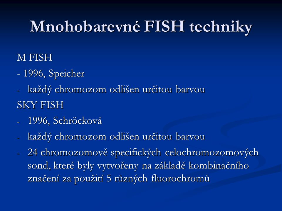 Mnohobarevné FISH techniky