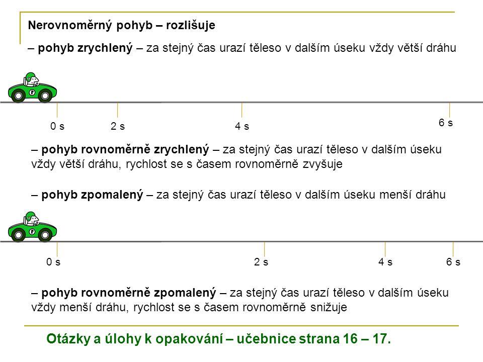 Otázky a úlohy k opakování – učebnice strana 16 – 17.