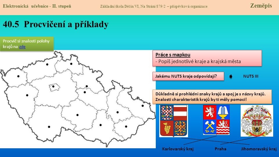 40.5 Procvičení a příklady Práce s mapkou