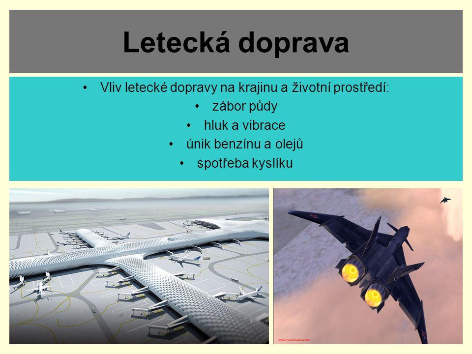 Vliv letecké dopravy na krajinu a životní prostředí: