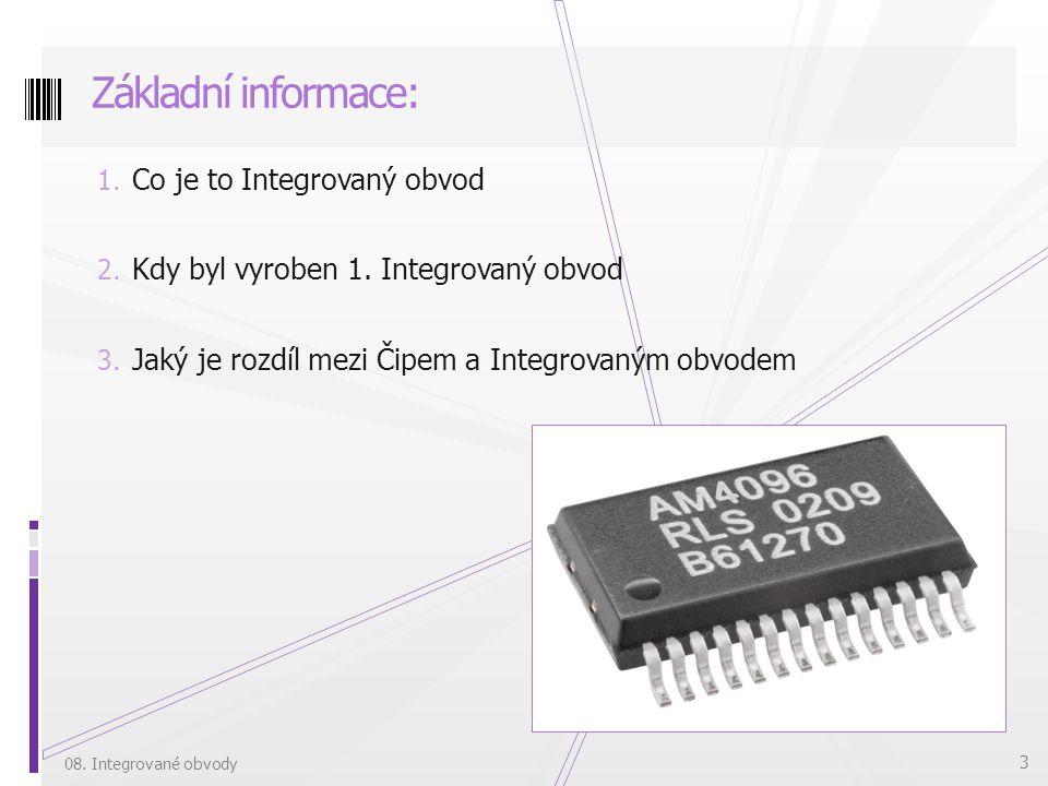Základní informace: Co je to Integrovaný obvod