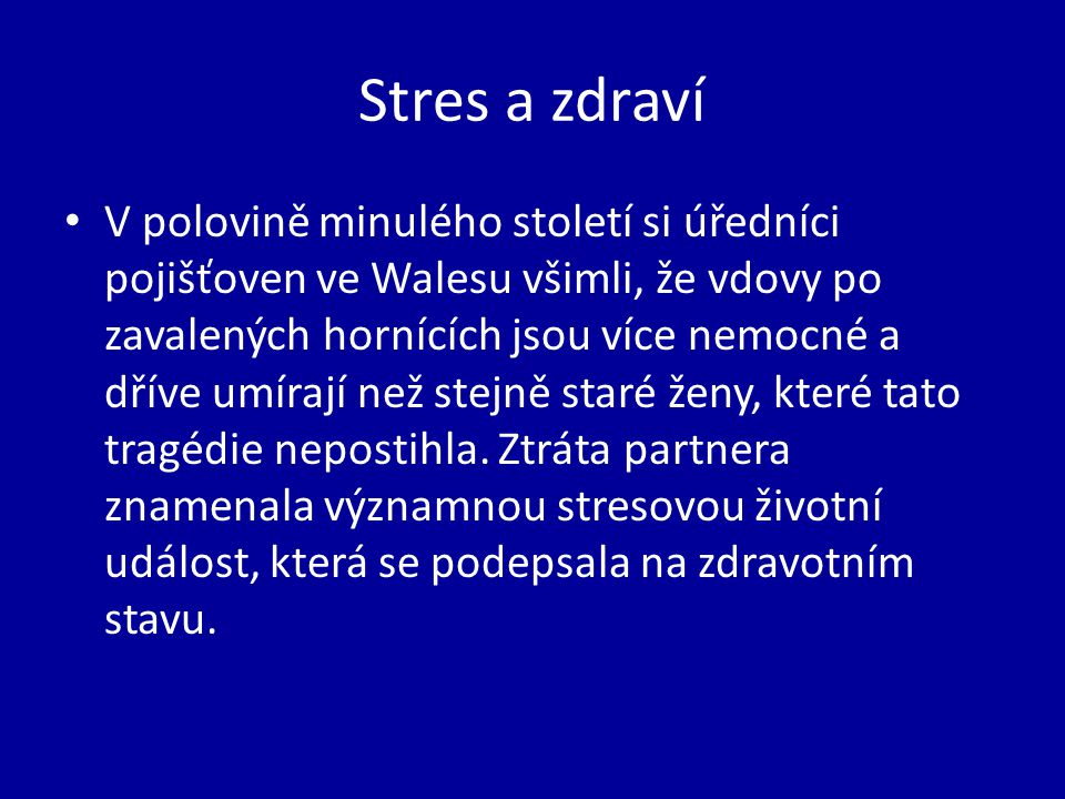 Stres a zdraví