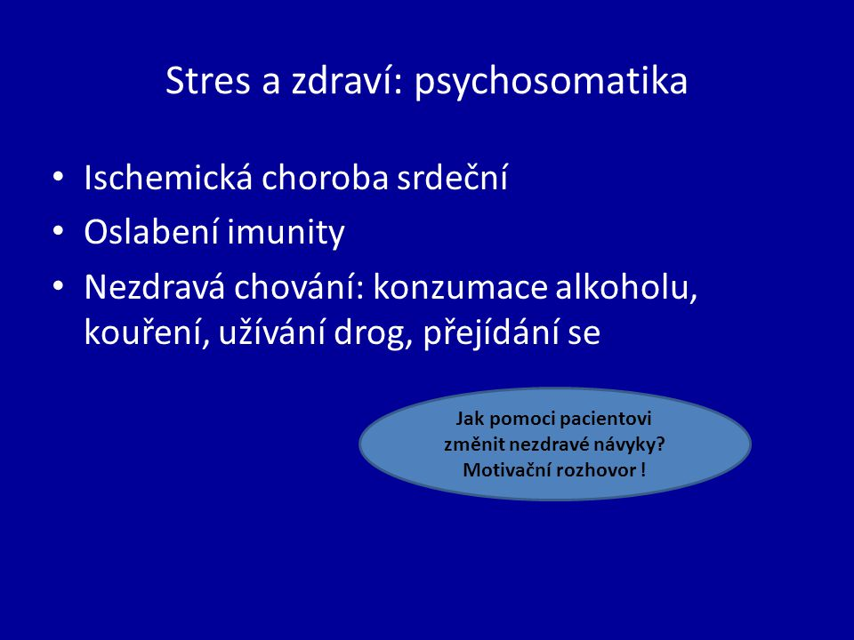 Stres a zdraví: psychosomatika
