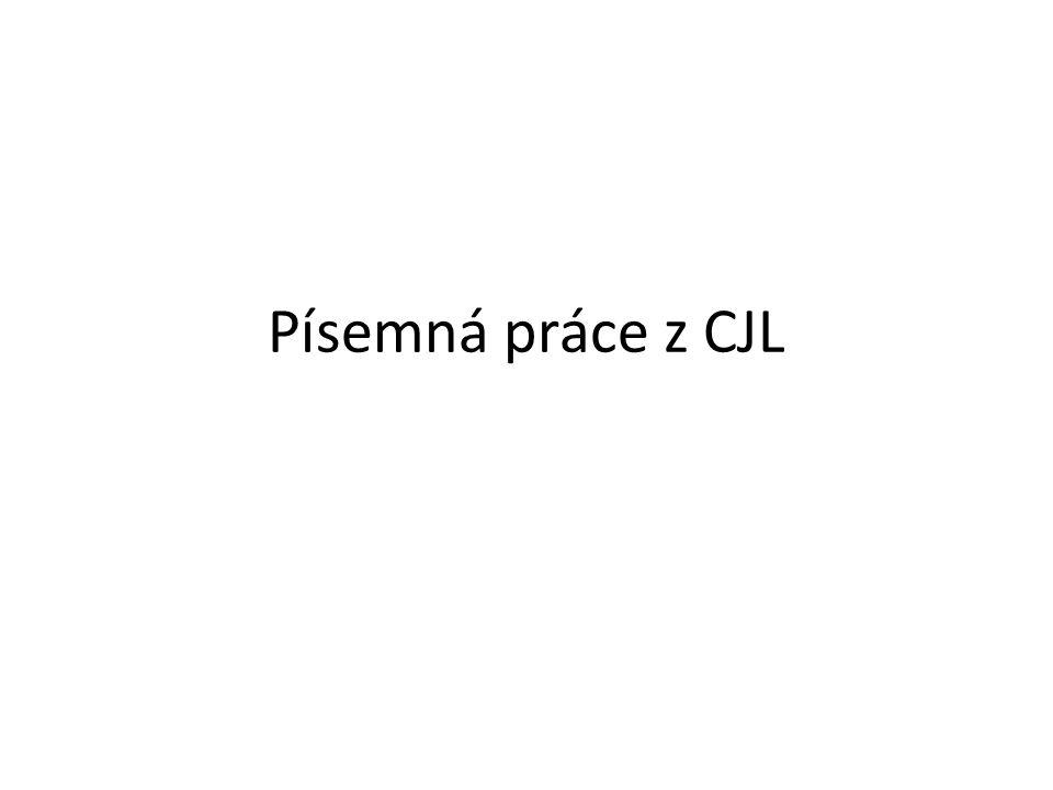 Písemná práce z CJL