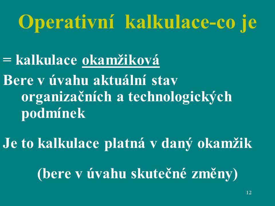 Operativní kalkulace-co je