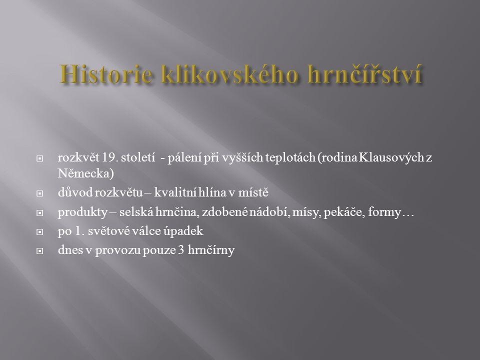 Historie klikovského hrnčířství