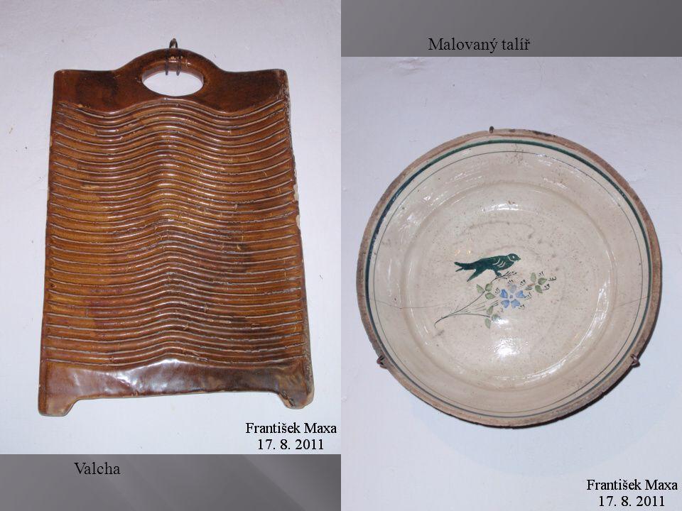 Malovaný talíř Valcha