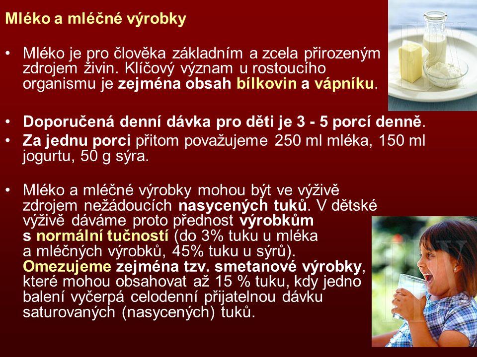 Mléko a mléčné výrobky