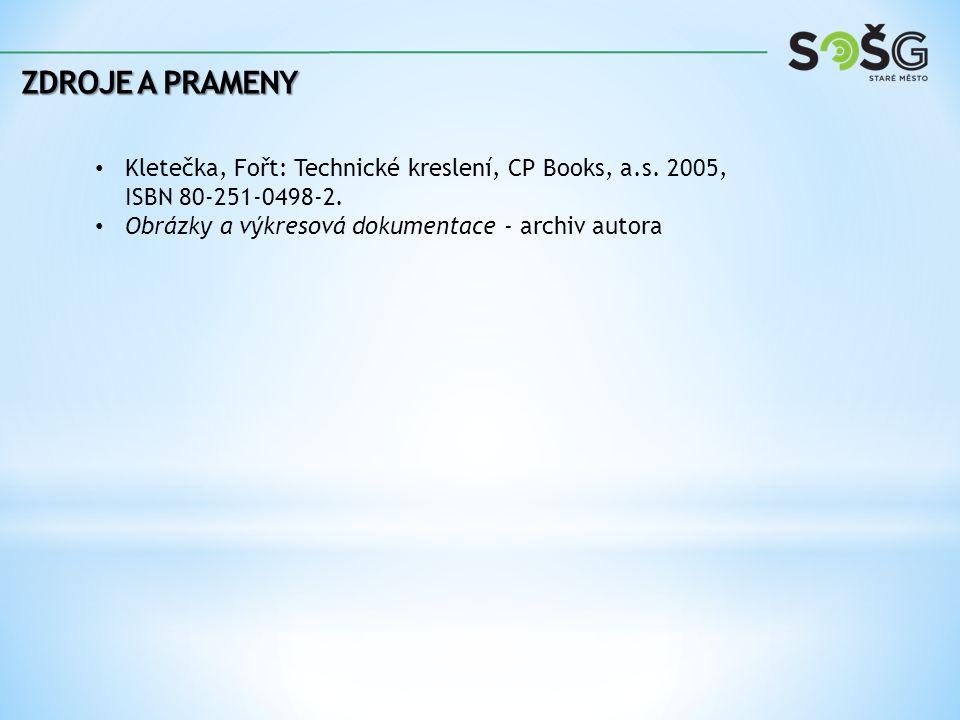 Zdroje a prameny Kletečka, Fořt: Technické kreslení, CP Books, a.s.