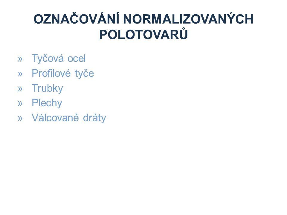 Označování normalizovaných polotovarů