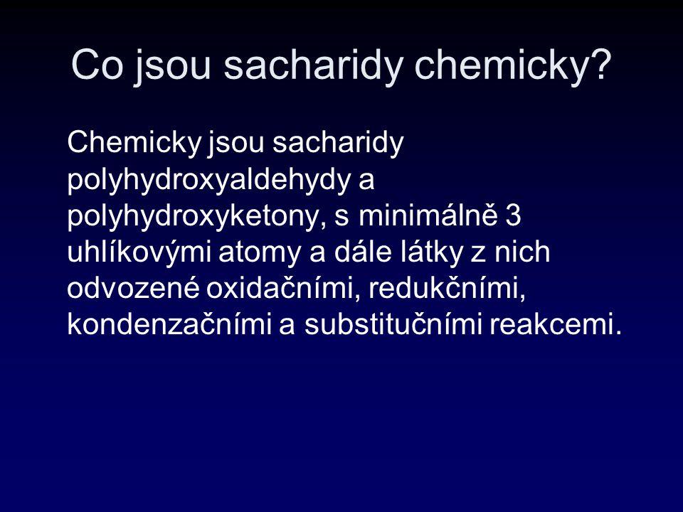 Co jsou sacharidy chemicky