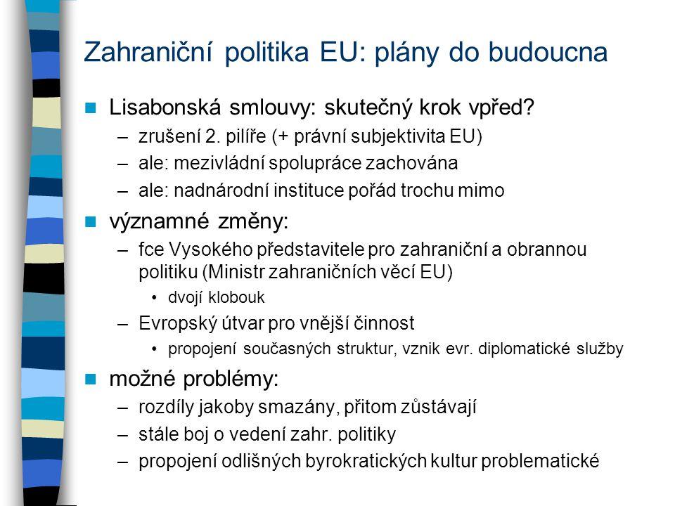 Zahraniční politika EU: plány do budoucna