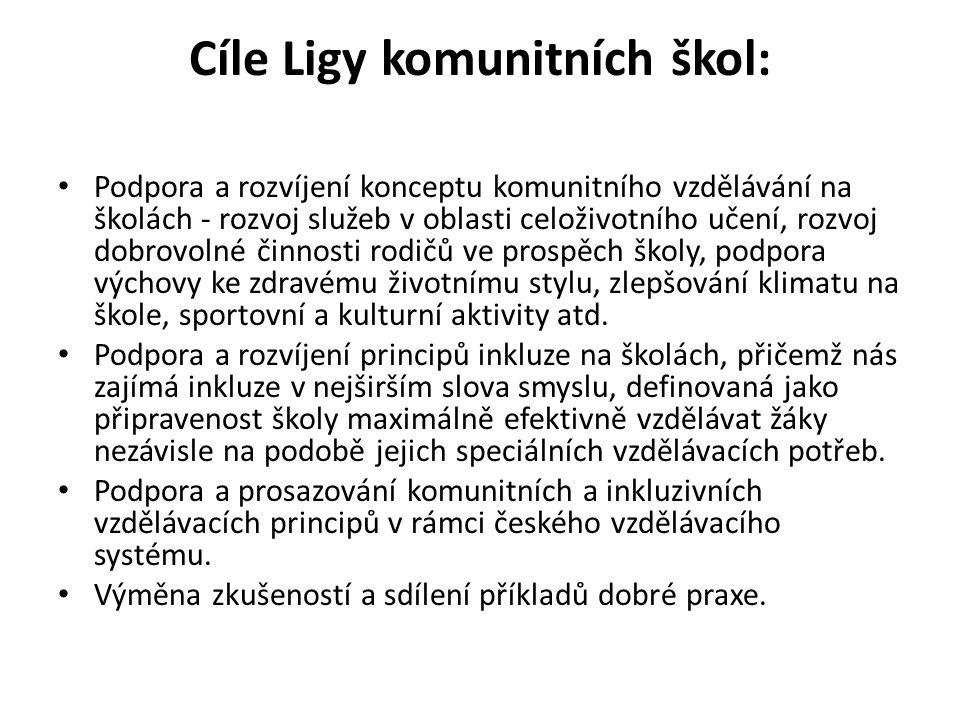 Cíle Ligy komunitních škol: