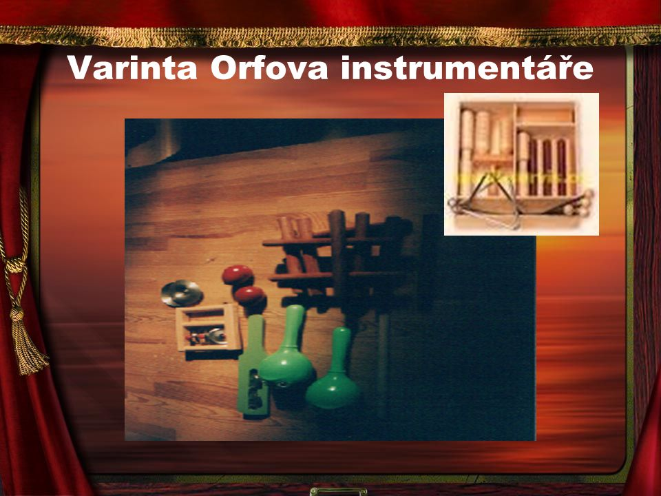 Varinta Orfova instrumentáře