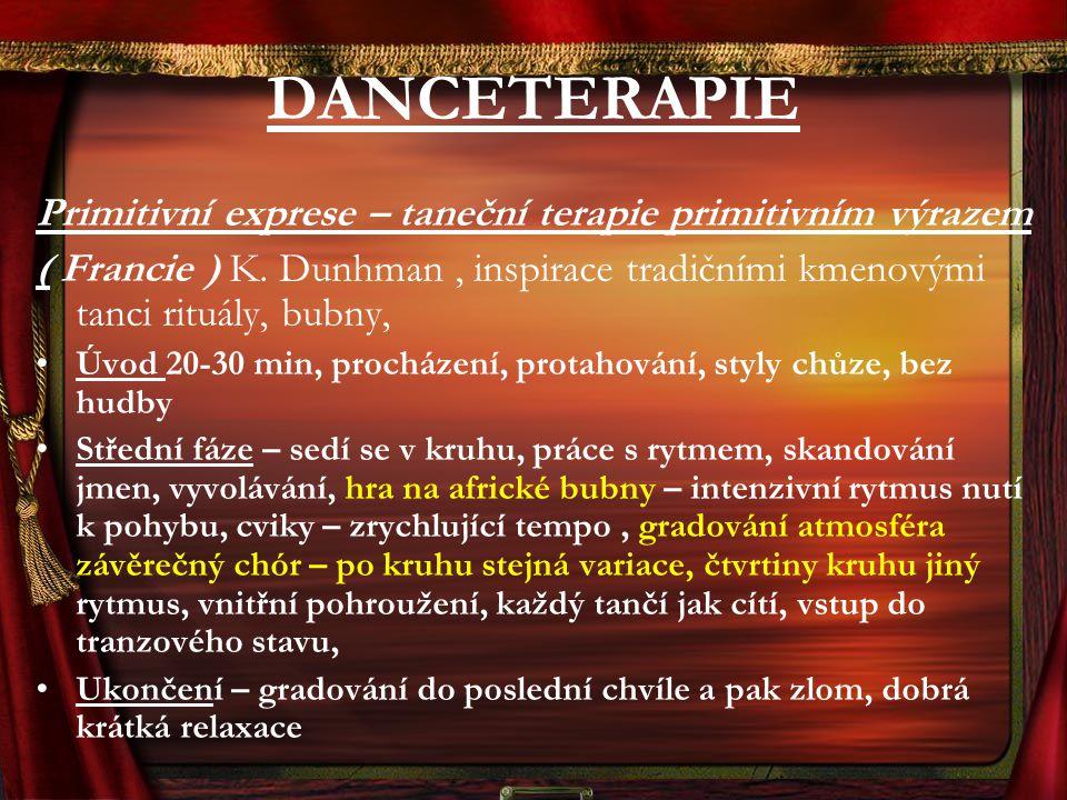 DANCETERAPIE Primitivní exprese – taneční terapie primitivním výrazem
