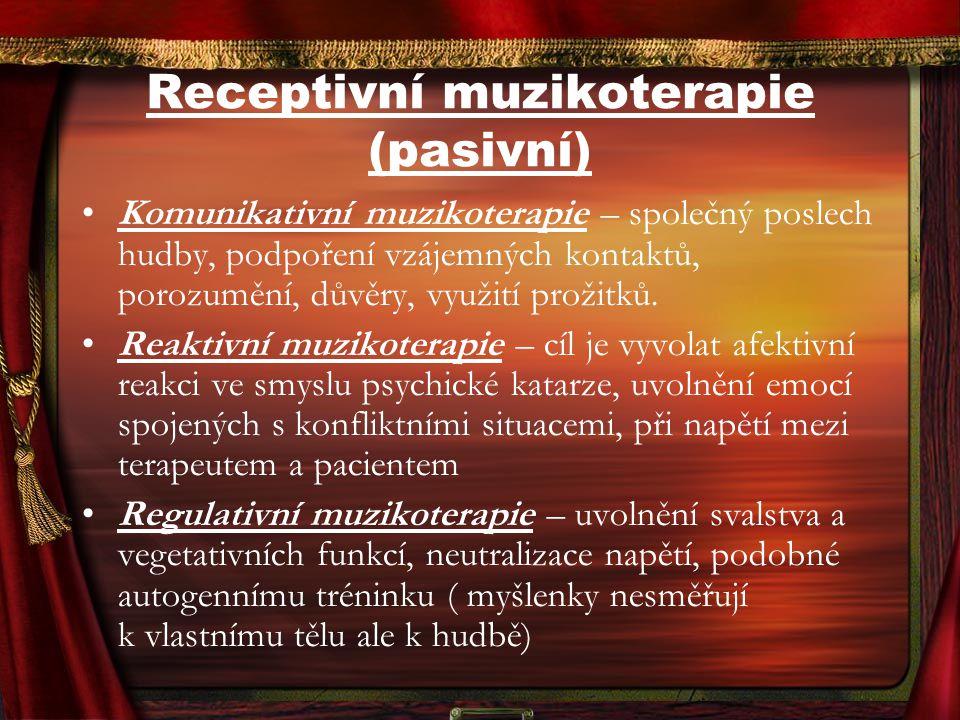 Receptivní muzikoterapie (pasivní)