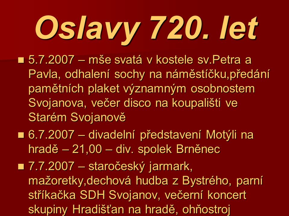 Oslavy 720. let