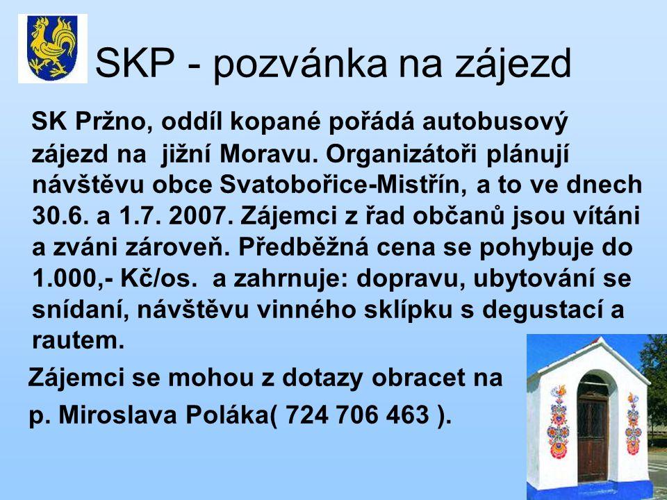 SKP - pozvánka na zájezd
