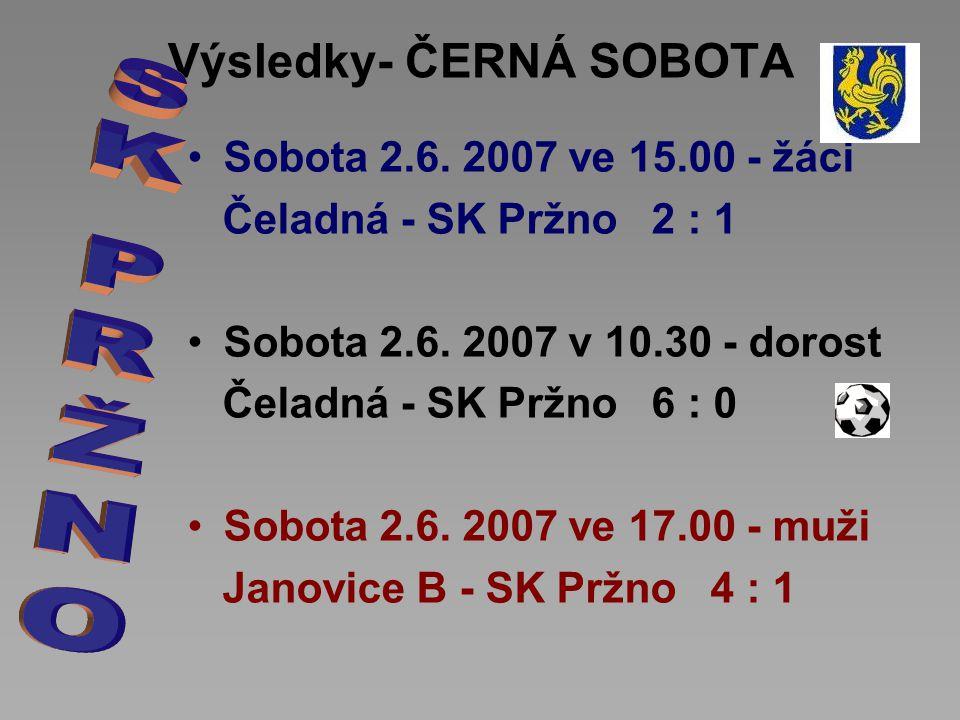 Výsledky- ČERNÁ SOBOTA