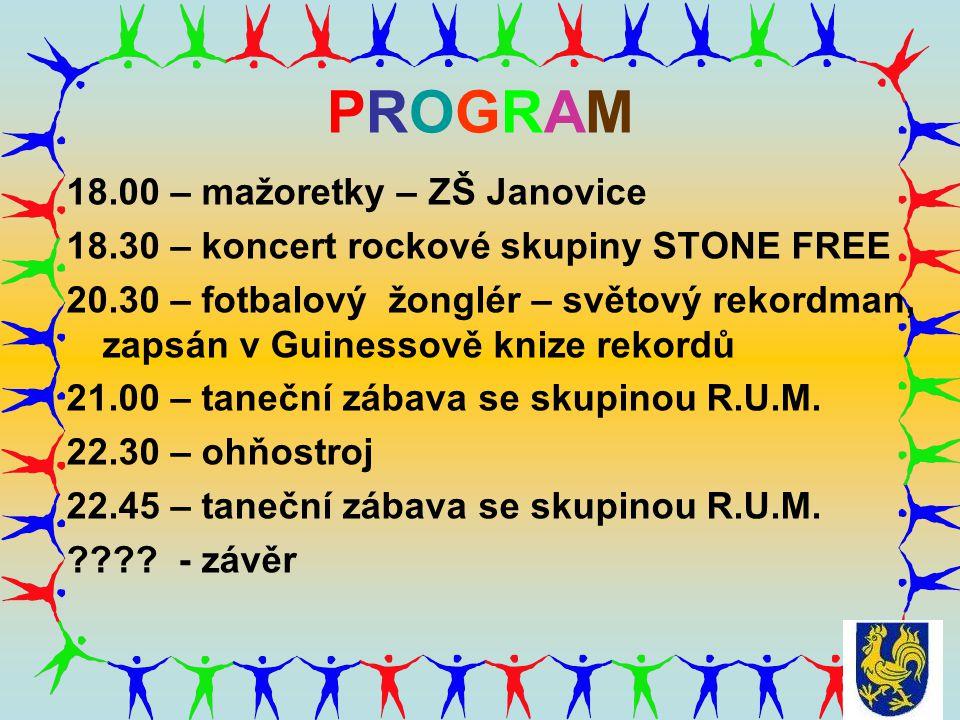 PROGRAM 18.00 – mažoretky – ZŠ Janovice