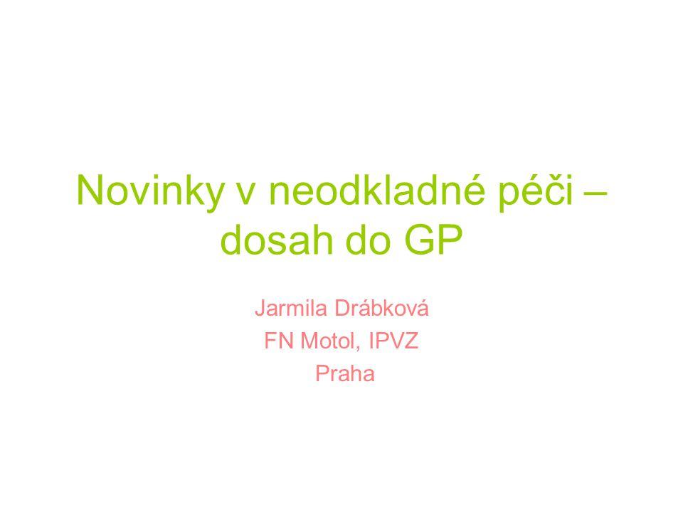 Novinky v neodkladné péči – dosah do GP