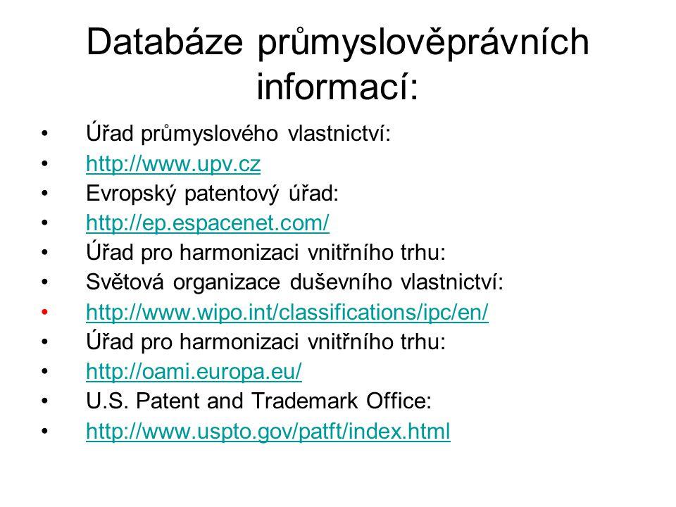 Databáze průmyslověprávních informací: