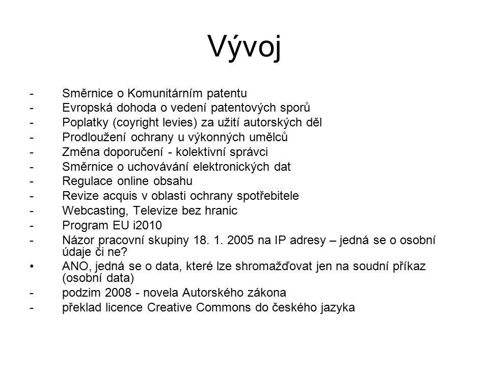 Vývoj Směrnice o Komunitárním patentu