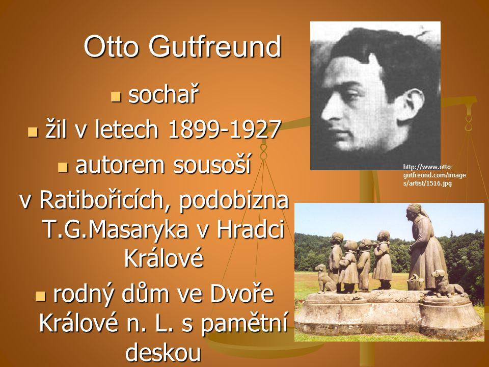 Otto Gutfreund sochař žil v letech 1899-1927 autorem sousoší