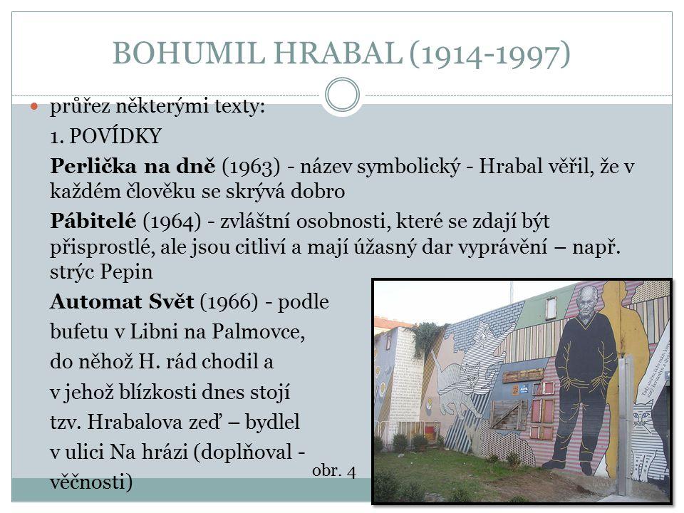 BOHUMIL HRABAL (1914-1997) průřez některými texty: 1. POVÍDKY