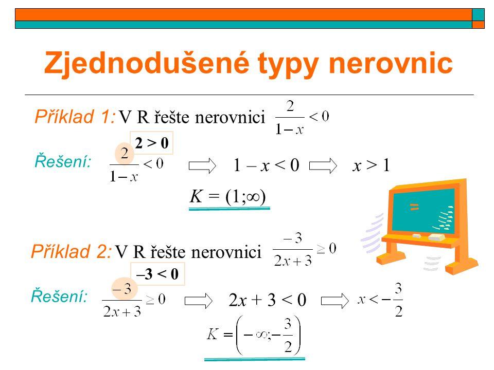Zjednodušené typy nerovnic