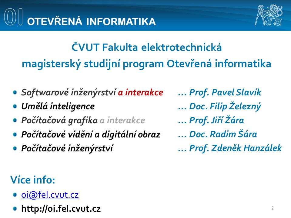 ČVUT Fakulta elektrotechnická