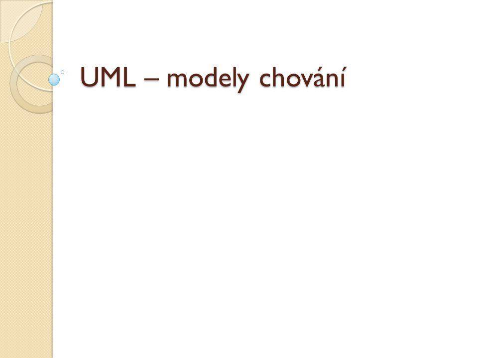 UML – modely chování