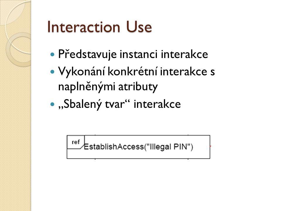 Interaction Use Představuje instanci interakce