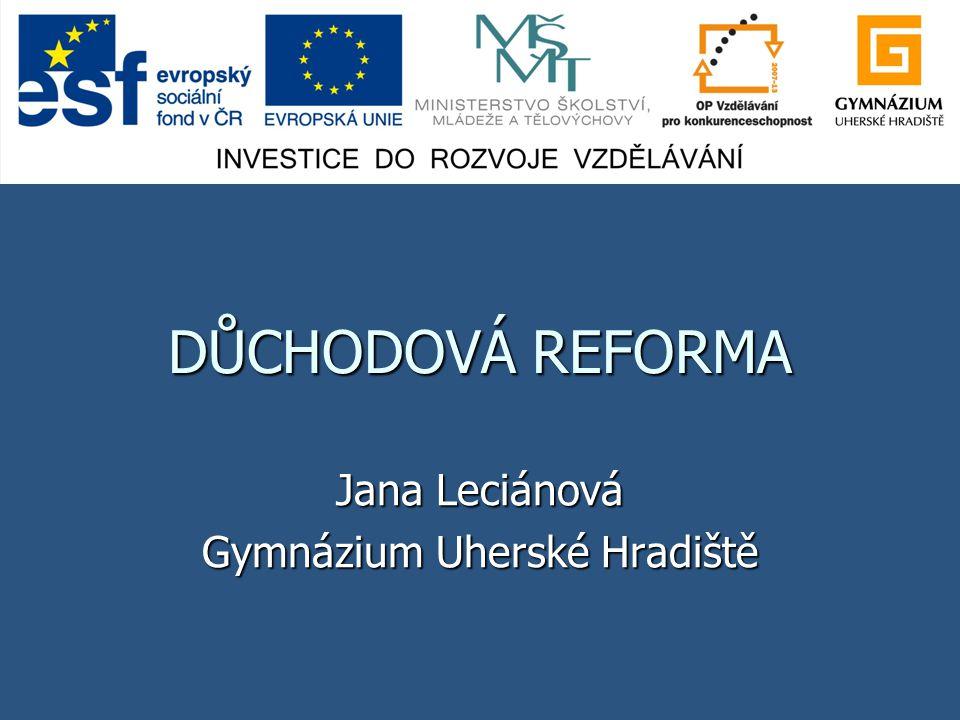 Jana Leciánová Gymnázium Uherské Hradiště
