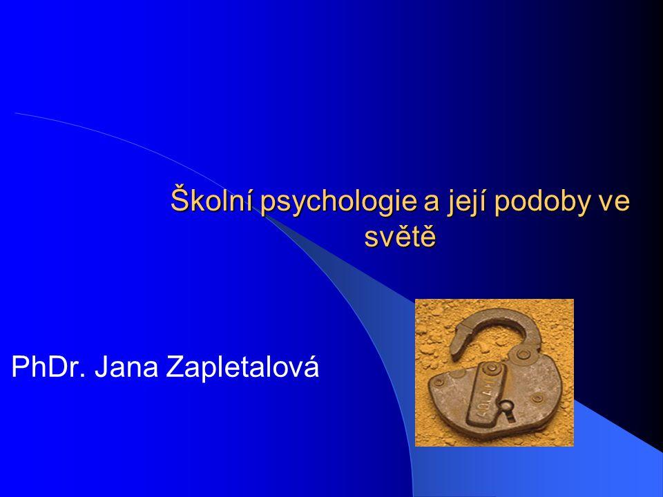 Školní psychologie a její podoby ve světě